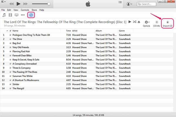 convert cd to mp3 in iTunes