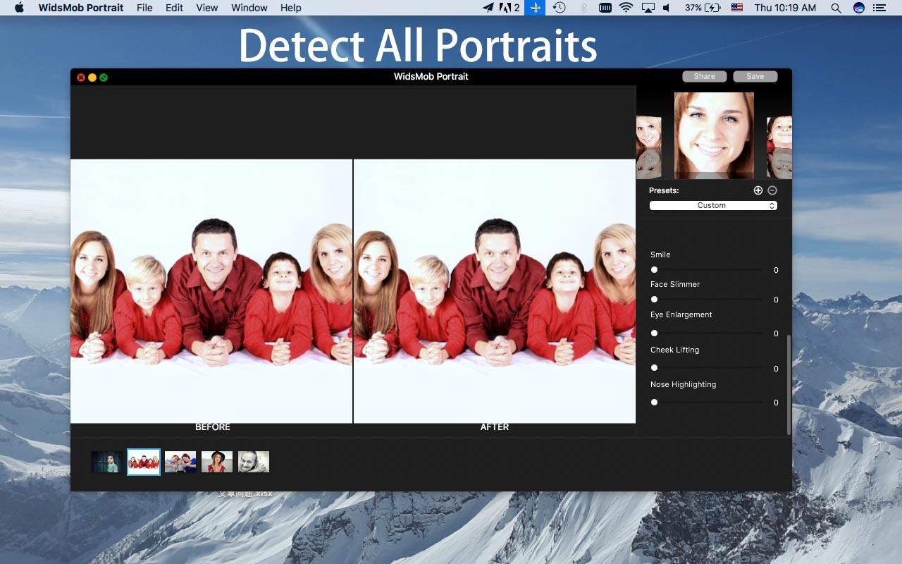 detectar todos os retratos