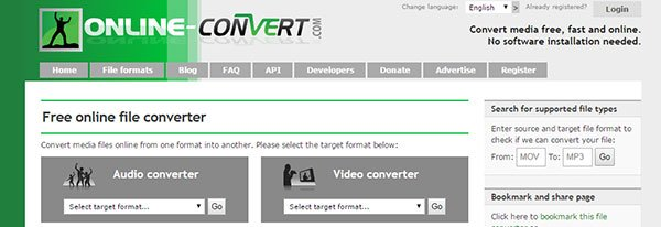 convert mov to mp3 with onlineconverter