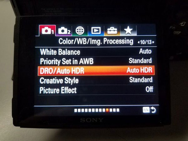 Auto HDR Setting
