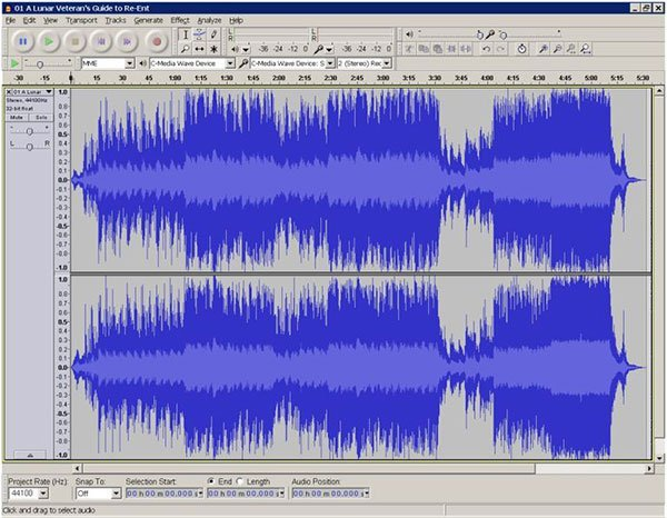 Convert WAV to MP3 via Audacity