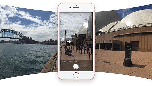 Panoramafoton på iPhone