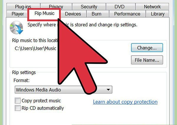 Rip WAV to MP3 with Windows Media Player