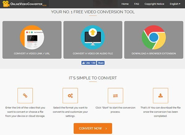 Convert WAV to MP3 with OnlineVideoConverter