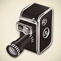 Ícone de câmera vintage de 8 mm