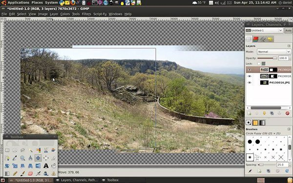 GIMP Panorama Maker Addon