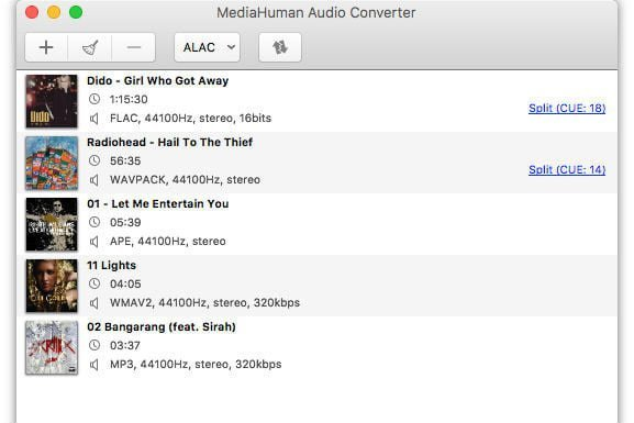 MediaHuman Audio Converter Screenshot