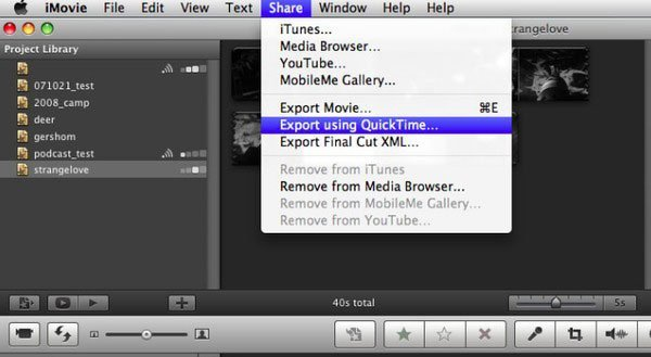 Upload MP3 to YouTube iMovie