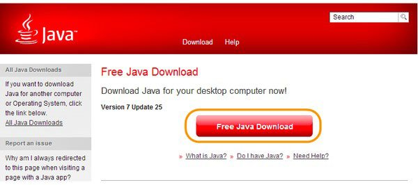 Start to Download Jave
