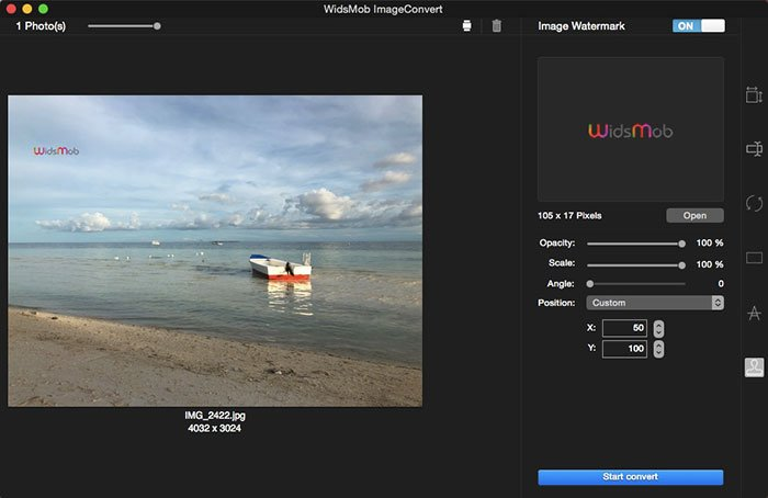 Editar foto con ImageConvert