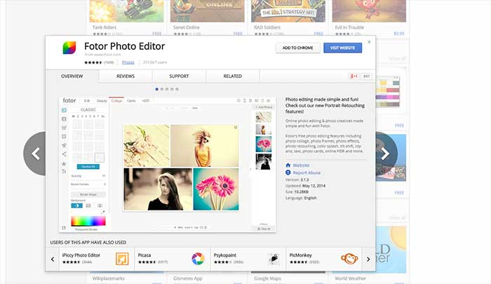 Fotor照片編輯器Chrome