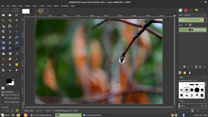 Editor de fotos GIMP