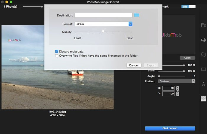 ImageConvertで写真を保存