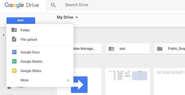 Få adgang til Google Drev