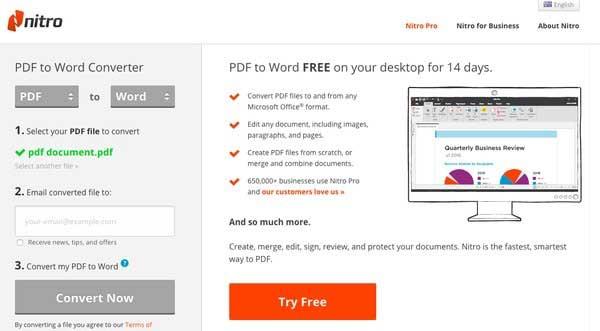 convertir archivo de pdf a word en linea