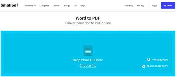 SamllPDF Word til PDF Converter