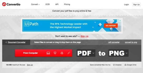 Convertio PDF to PNG