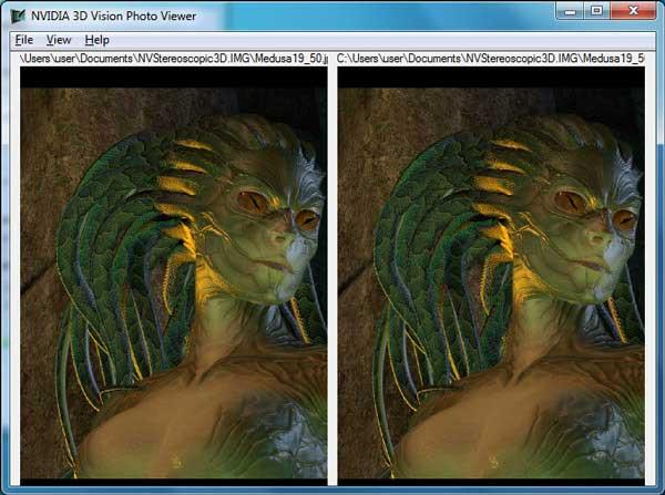 NVIDIA 3D الرؤية عارض الصور