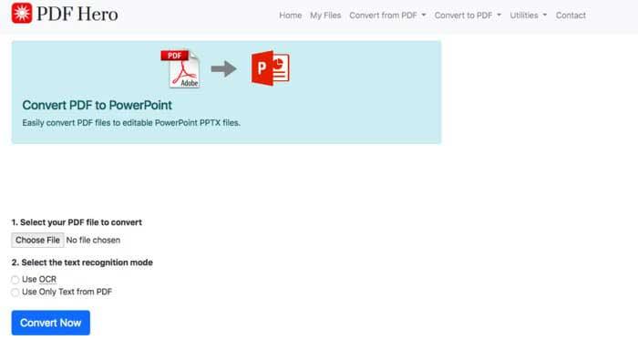 PDF Hero Convertidor de PDF a PPT