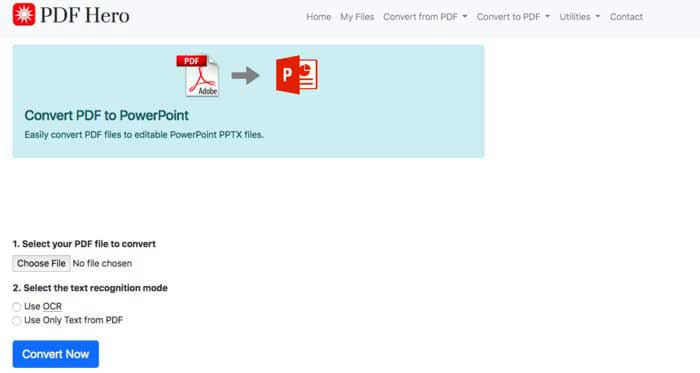 PDF Hero PDF to PPT Converter