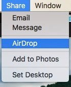 Add to Airdrop on Viewer