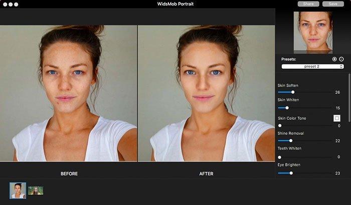 Antes / Depois no retrato