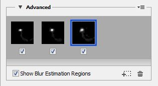 Blur Estimation Region