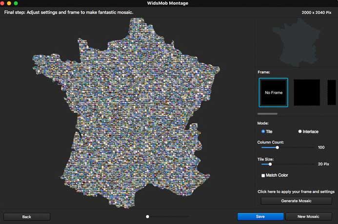 Lag Mosaic med WidsMob Montage