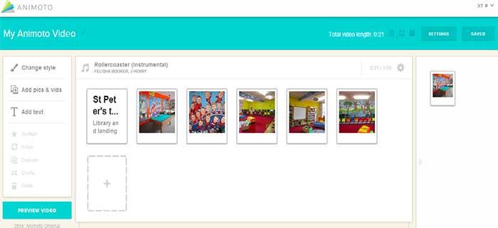 Lag Photo Video Montage med Animoto
