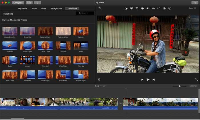 iMovieでフォトビデオモンタージュを作成する