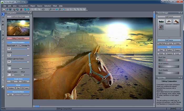 Montagem de fotos 3D