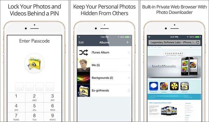 Capture d'écran de Private Photo Vault