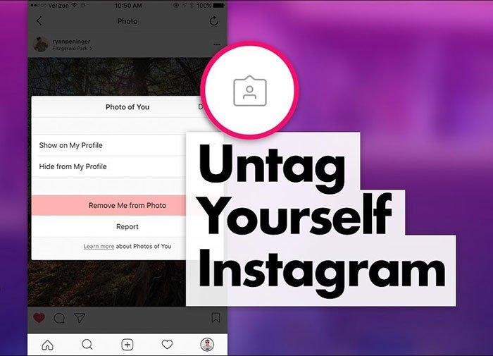 Fjern tagget af Instagram-fotos