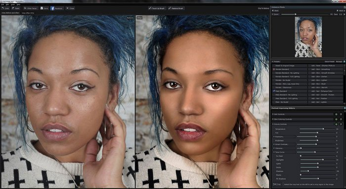 Optimisation automatique de PortraitPro