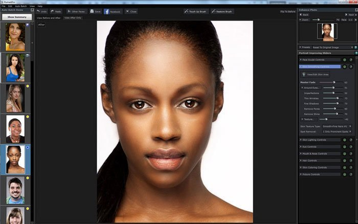 PortraitPro batch-behandling