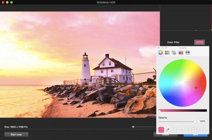 Färgfilter på HDR