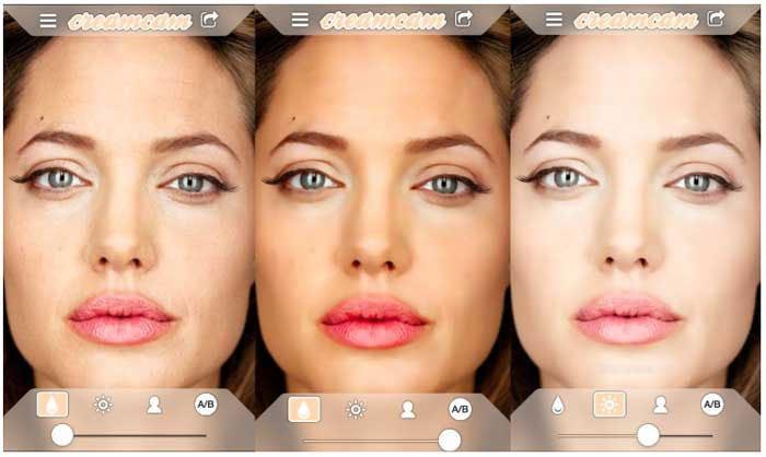 Aplikacje do makijażu portretów - CreamCam