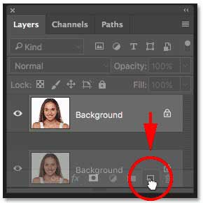 Duplicate Background Layer on Photoshop