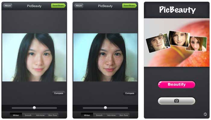 Blemish Remover App - PicBeauty