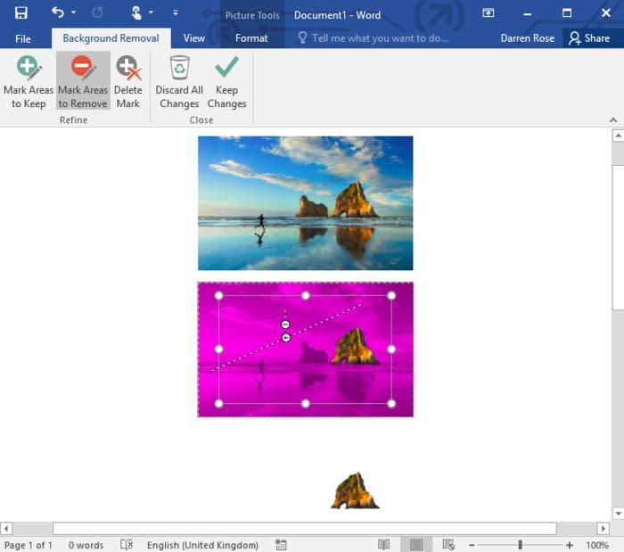 Supprimer l'arrière-plan des photos dans Microsoft Word