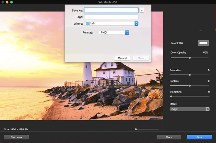 Save HDR Photos