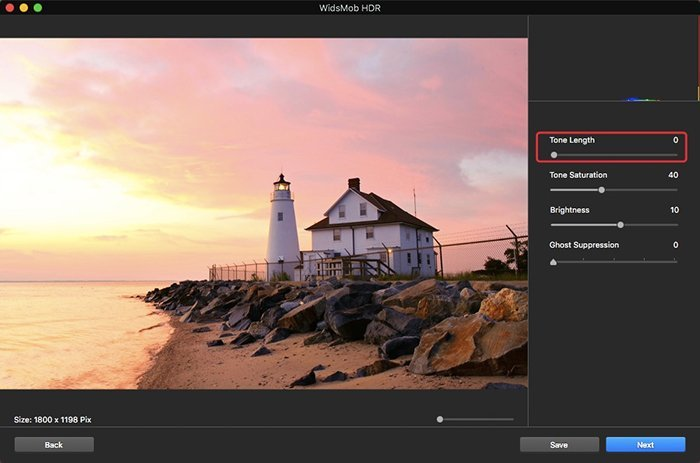 Tone Length on HDR