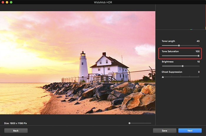 Tone Saturation on HDR