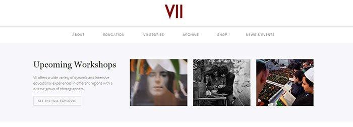 Website vergelijkbaar met Magnum Photos - VII Photo Agency