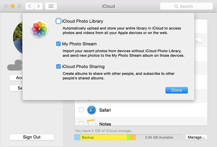 MacでiCloudの写真にアクセスする