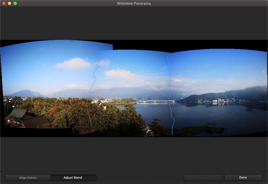 Adjust Blend Panorama Image