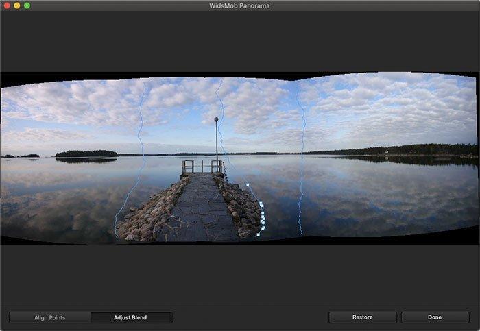 Προσαρμογή Blend Panorama