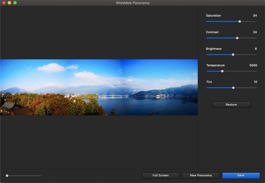 Adjust Effect Panorama