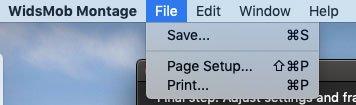 Επιλέξτε Print Montage