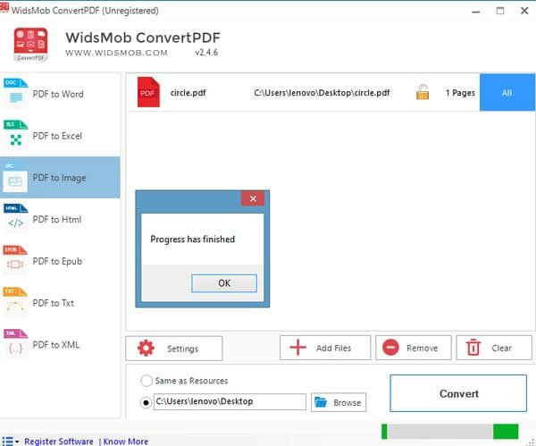 Convert PDF to JPG on Windows